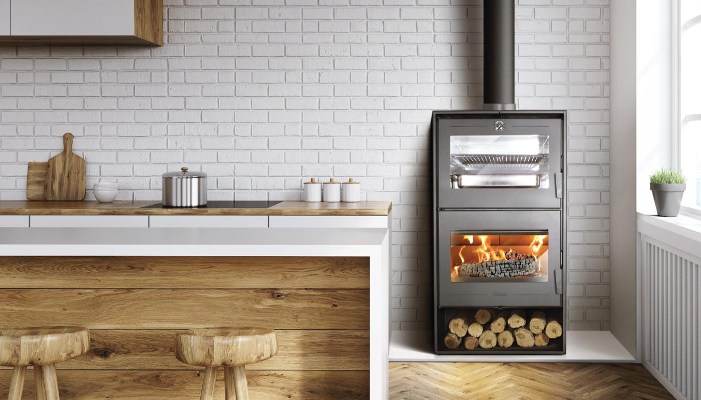 Forno A Legna Con Camino stufa contemporanea a legna con forno in conto termico altea 7