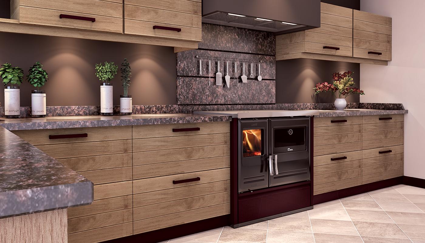 Cucina Moderna Con Stufa A Legna.Cucina A Legna Etna 5t